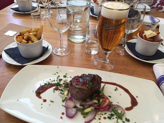 Gostas Fish Restaurant: Grillad oxfilét tornedous kan anbefales 😋