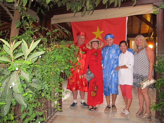 A Birthday Party Getting Into The Vietnamese Spirit Of Things