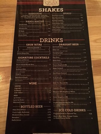 Willow Grove, PA: Drinks Menu