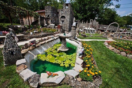 The original coy pond at Hartman Rock Garden.