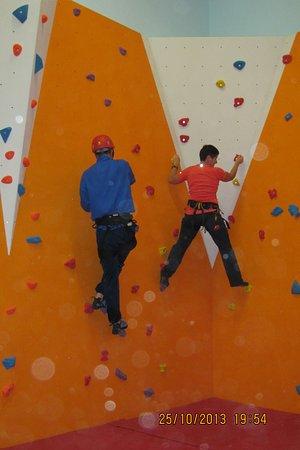 Tipperary, Irlandia: Climbing wall in Upperchurch