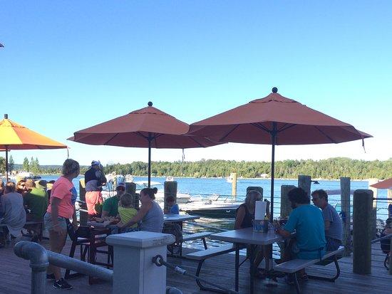 The Landing Restaurant: Outdoor patio