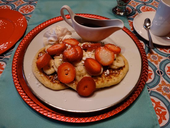 Windsor, Kanada: Wonderful pancakes with fruit