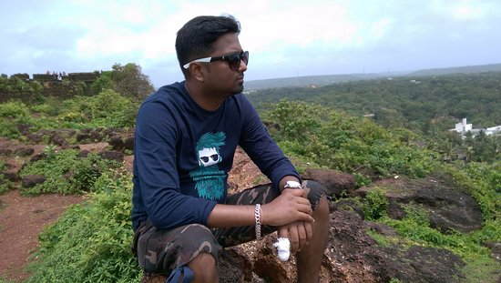 At top of Chapora Fort