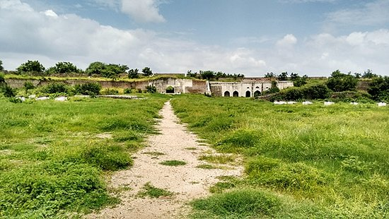 Karimnagar, Indien: One side of the fort