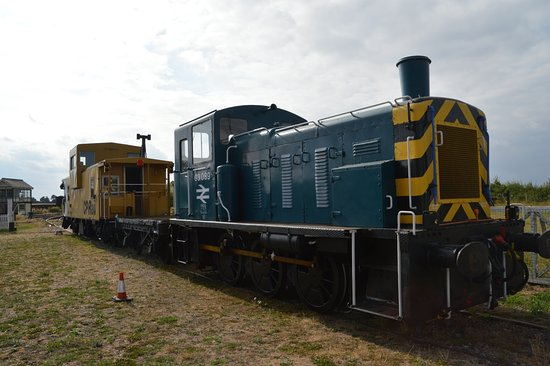 """Burnham-on-Crouch, UK: Canadian Pacific Railway """"Caboose"""", and one of the many shunters"""