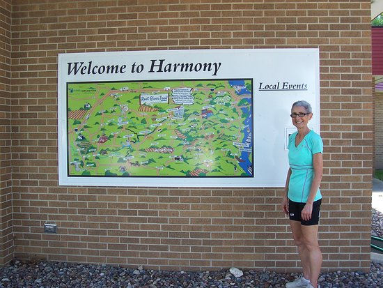 ‪‪Harmony‬, ‪Minnesota‬: Harmony trail head. Map of Harmony-Preston and Root River Trails.‬