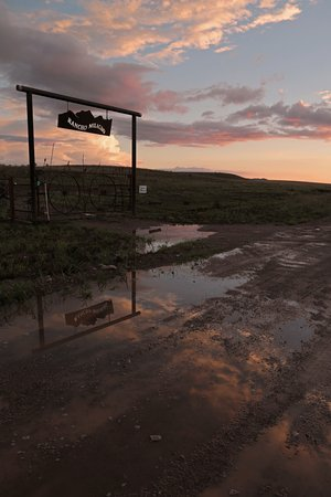 Elgin, AZ: The gate to the ranch just after the rain