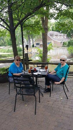 Cedarburg, WI : on the patio