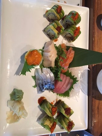 Newtown, CT: sashimi assortment with uni