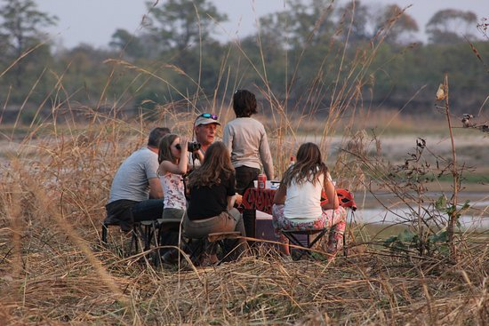 North Luangwa National Park, Ζάμπια: drinks with a view