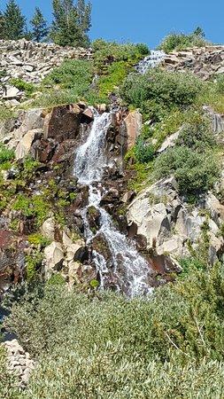 Tahoe Meadows Whole Access Interpretive Trail: The waterfall at half way mark.