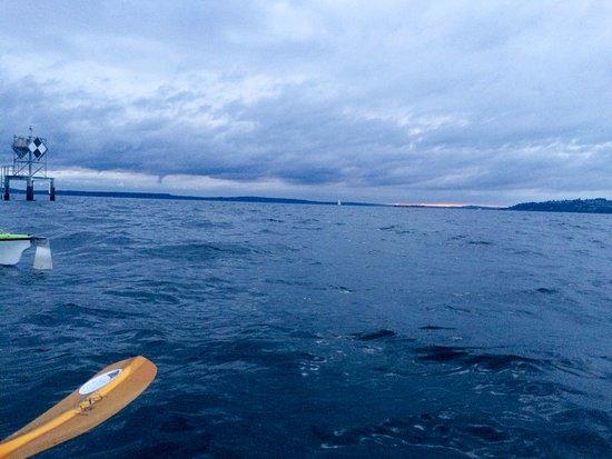 Alki Kayak Tours: tiny bit of sunrays