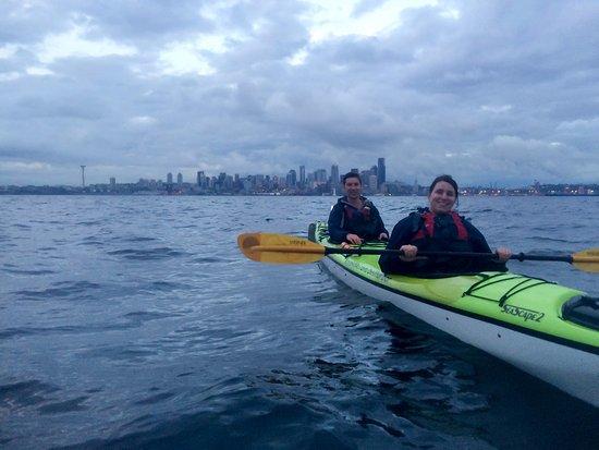 Alki Kayak Tours: city view