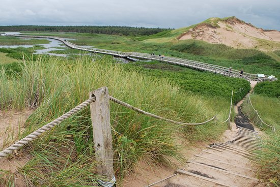 Saint Peters Bay, Canadá: Cresting the hill to the dunes
