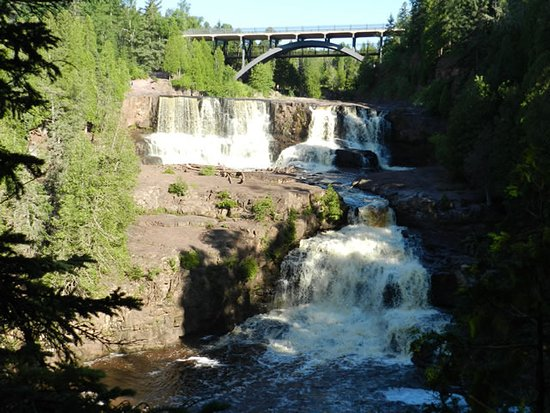 Two Harbors, MN : Just part of Gooseberry Falls. Hwy 61 bridge.