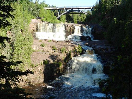 Two Harbors, MN: Just part of Gooseberry Falls. Hwy 61 bridge.