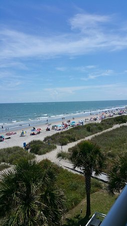 Best Western Plus Grand Strand Inn Suites 4th Floor Balcony Views Oceanfront Building