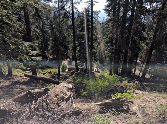 Sequoia High Sierra Camp: From mid-way up the hill overlooking the bathrooms