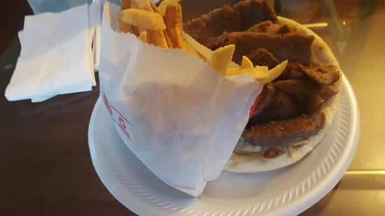 Plainfield, IL: polish sausge and fries and gyros fries
