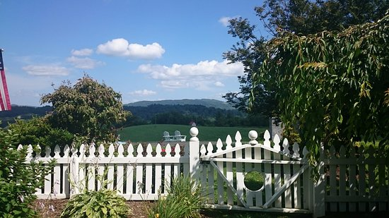 Sparta, NC: view from one of the garden areas