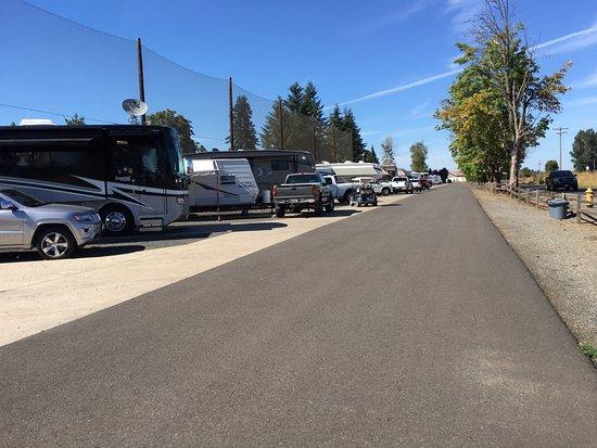 Chehalis, WA: Single row of RV spaces