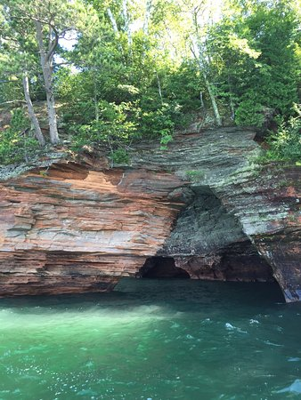Cornucopia, WI: The inland sea caves are not to be missed!