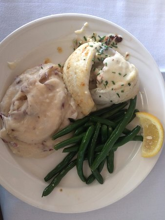 Wildwood Crest, NJ: Flounder stuffed with crab, dill and avacoda
