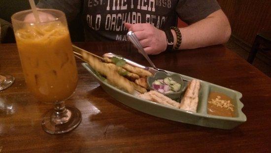 Taste of Thai: Thai tea and chicken satay