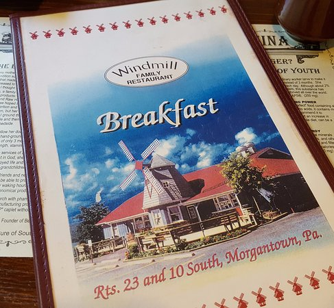 Morgantown, Pensilvania: Breakfast menu