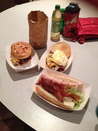 Crestview, FL: Hamburger topped with egg and a Chef sandwich