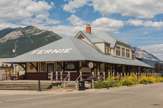 Fernie, Canada: Former Railway Station, now a venue and restaurant