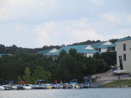 Hollister, MO: View of the marina from the water.