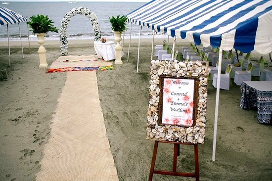 Smugglers Cove Beach Resort Hotel Wedding Setup