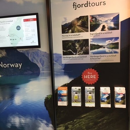 Bergen Tourist Information: Video footage and info leaflets , you can book directly at the counter