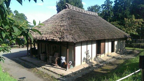 Old Japanese Folk House Garden