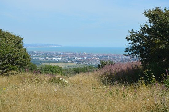 Wilmington, UK: the view of Eastbourne