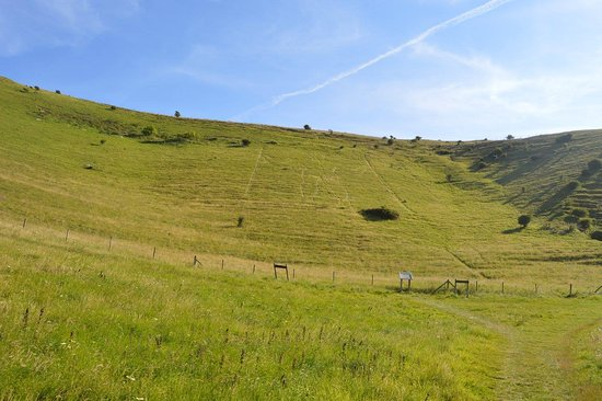 Wilmington, UK: the long man from a distance