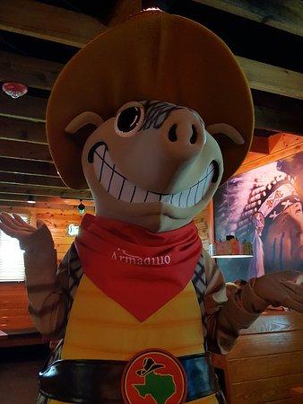 Lady Lake, FL: The Texas Roadhouse Mascott