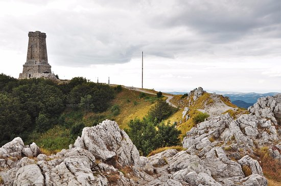 Shipka, Bulgaria: The memorial and paths to viewpoints