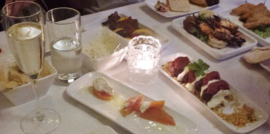 12-plate meze sharing menu