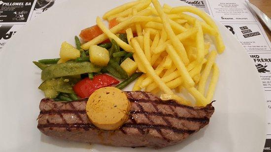 Payerne, Suiza: Exemple de repas principal