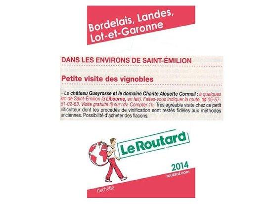 Libourne, Frankrike: Guide du Routard 2015