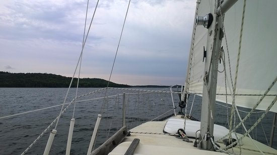 St. Peter's, Canada: Sailing on the lake with Captain Kerr