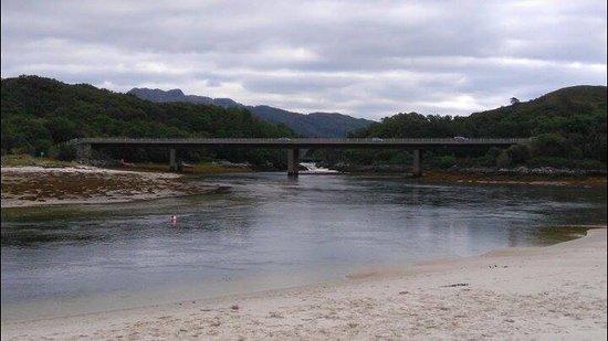River Morar ino the sea