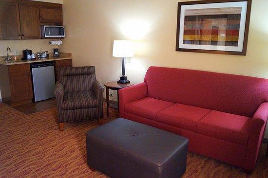 Altoona, بنسيلفانيا: Queen Suite Living Area