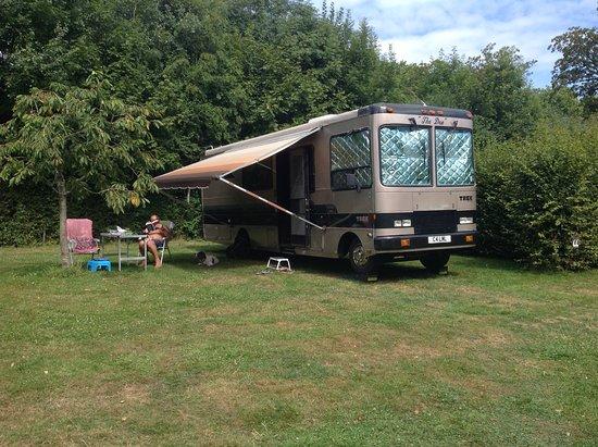 Pouilly-en-Auxois, France : Our large pitch.