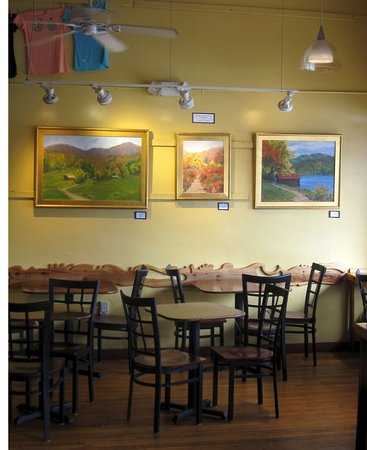 Local art on the walls - Picture of West End Bakery and Cafe ...