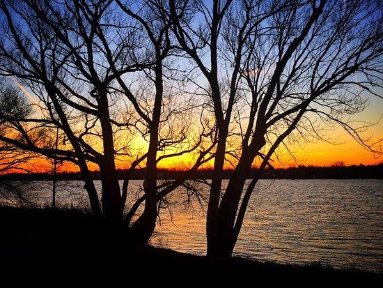 Tonawanda, NY: Sunset in spring along the river.