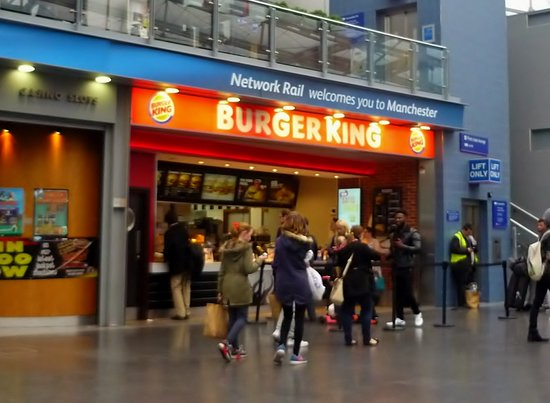 Burger King Piccadilly Train Station Manchester Menu